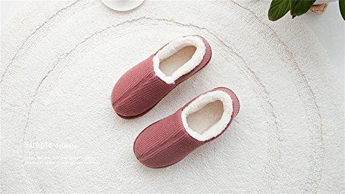 adulto 38 Uomo Invernali 001 Caldo Di on Scarpe Pantofole Foderate Eu Zhang2 Pelliccia Unisex Slip Impermeabili Donna eu38 qXtwwdxZ