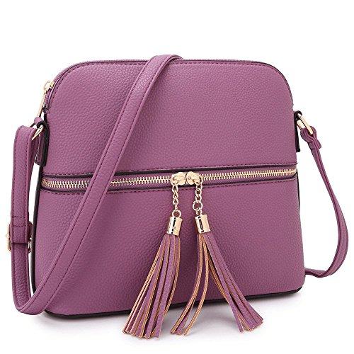 - MMK collection Fashion Designer Handbag for Women~Women's Designer Satchel Handbag Tote Bag Shoulder Bags Crossbody handbag(Z-7660-Purple)