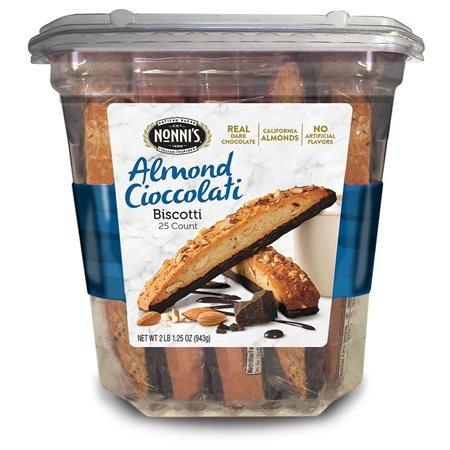 Nonni's Almond Cioccolati Biscotti 25 cts.