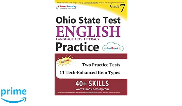 Ohio State Test Prep: Grade 7 English Language Arts Literacy (ELA ...