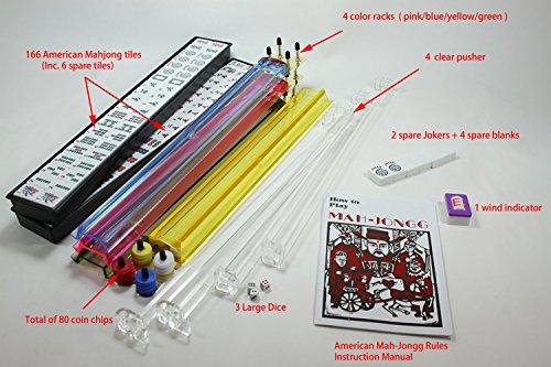 4 Pushers +  Complete American Mahjong Set in Aluminum Ca...