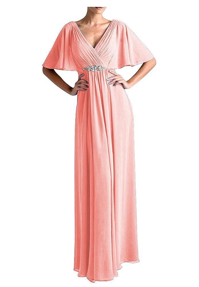 VaniaDress Women V Neck Half Sleeveles Long Evening Dress Formal Gowns V265LF