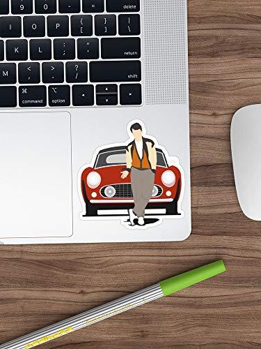 Ferris Bueller's Day Off Sticker Window Vinyl Sticker for Cars, Trucks, Windows, Walls, Laptops (Longest Side 3