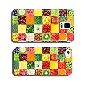 Healthy fresh fruits and vegetables cell phone cover case Samsung S6