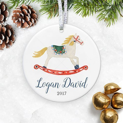 Personalized Baby Boy Christmas Ornament 2018, Baby First Ornament, Nursery Baby Shower Keepsake for New Mom - 3