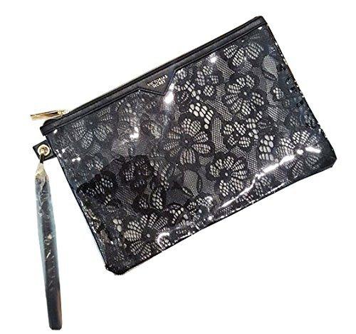 Lace Makeup Bag - Victoria's Secret Cosmetic Travel Bag Clear Lace