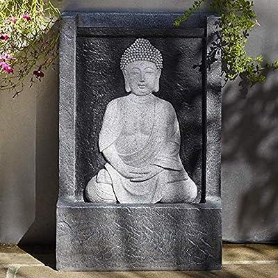 Estatuas para jardín Fuente De Buda del Jardín del LED Enchufa El Jardín Esculturas De Agua Característica Estatua Decoración H: 39 * W: 26 X D: 14 cm: Amazon.es: Hogar