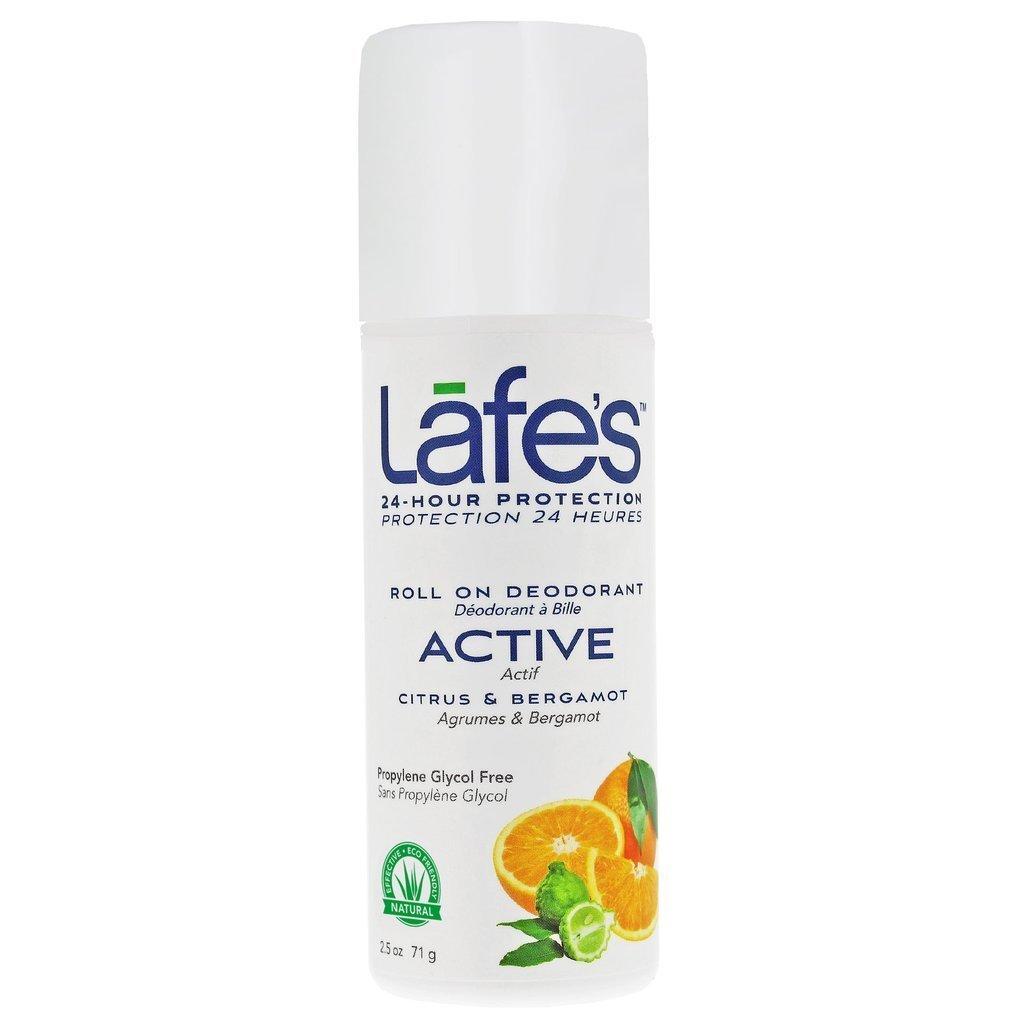 Lafe's Roll-On Deodorant, Citrus & Bergamot, 2.5 Ounce