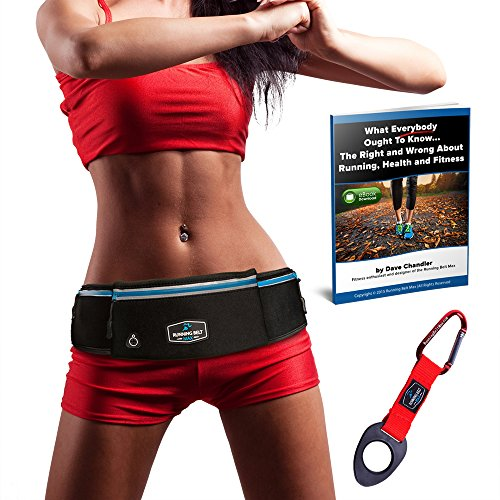 Running Belt Max - Amazing Exercise, Yoga, Travel Pack for iPhone X, 8, 8 Plus, 7, 7 Plus, Samsung Galaxy, S8, Any Large SmartPhone - Waterproof - 3 Pockets w/ - Warehouse Review Sunglasses