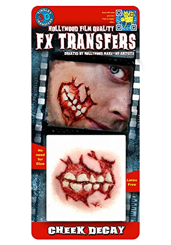 [Tinsley Transfers  Cheek Decay, Flesh/Multi, One Size] (Prosthetic Fx Makeup Halloween Masks)
