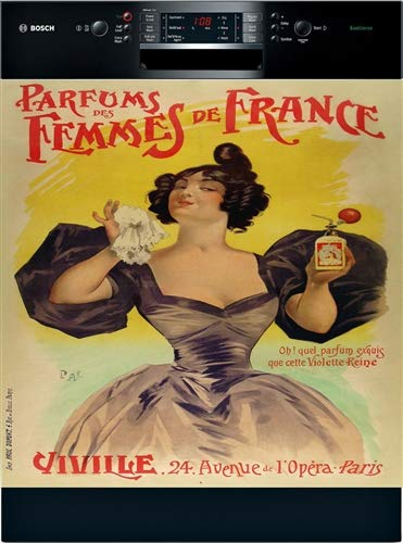Parisian Perfume Vintage Dishwasher Cover