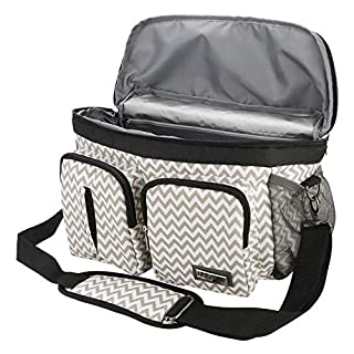 Baby Stroller Organizer Bag,Wet Dry Separated Stroller Caddy Organizer,Large Capacity Waterproof Stroller Storage Bag,Non-Slip and Adjustable Straps,Multi-Function Baby Products Organizer. Ripple