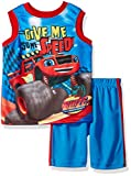 Nickelodeon Toddler Boys' Blaze Tank With Short Set, Blue, 3T