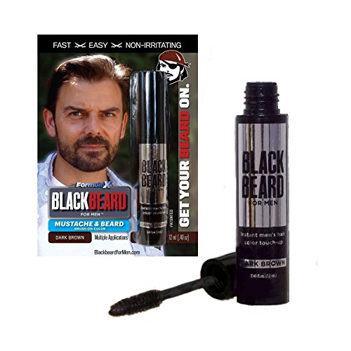 Blackbeard for Men - Instant Brush-On Beard & Mustache Color - 1-pack (Dark Brown)
