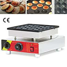 Newtry NP-542 25pcs Commercial Electric non-stick stainless steel Dutch Poffertjes Grill ,Mini Pancakes Maker, Waffle Toaster, waffle machine (220V)