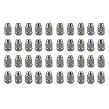 "ABN   Wheel Lug Nuts 40-Pack, M12 x 1.5 Chrome Lug Nuts JDM – 1.4"" inch Tall, 3/4"" 19mm Hex Wheel Lugs – Acorn Cone Nut"