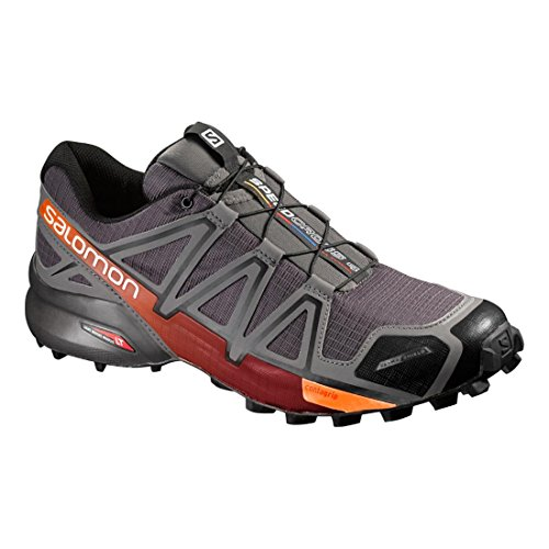 Salomon Mens Speedcross 4 Cs Trail Running Autostrada Detroit-orange Ruggine