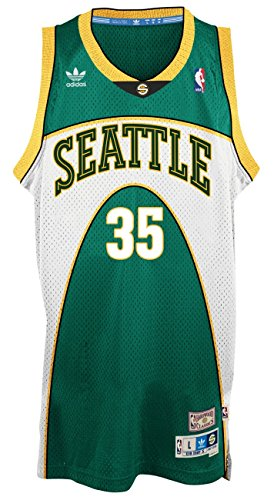 Kevin Durant Seattle Supersonics Adidas NBA Throwback Swingman Green Jersey (X-Large)