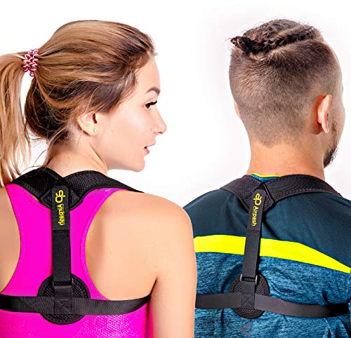 Posture Corrector for Woman and Men - Premium Fully Adjustable Comfortable Personal High Upper Back Brace for Clavicle and Thoracic Support Improve Bad Posture Shoulder Alignment and Pain Relief