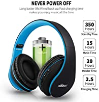 Puersit Auriculares Bluetooth de Diadema con Micrófono Cancelación Ruido Hi-Fi Estéreo Auriculares Inalámbricos Bluetooth Plegable para Tablet/TV/PC/Móviles: Amazon.es: Electrónica