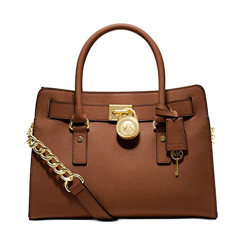 Michael Kors Hamilton East/West Saffiano Satchel (Saffiano Luggage)