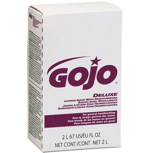 (Gojo NXT Deluxe Lotion Soap W/ Moisturizers Refill Floral, 2000mL, 4/Case)