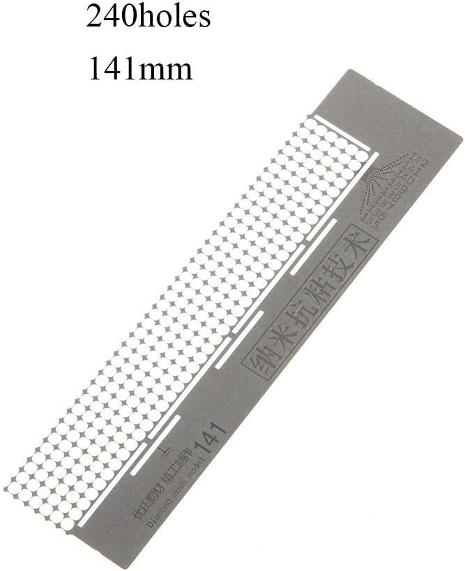 216holes-141mm UUMIR 5D Diamond Painted Net Ruler,50 grids 141 mm//140 mm DIY Necklace Dotting Anti Stick Neat Drilling Tools Mesh Model