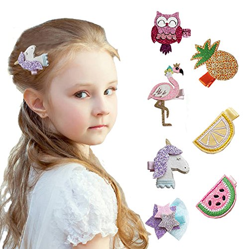 Price comparison product image Baby Girl Hair Clip Hairpin Gift for Children Teens Makeup DIY Angelland (7PCS)