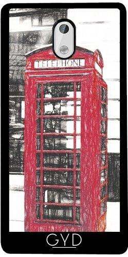 Funda de silicona para Nokia 3 - Cabina Telefónica Británica by J McCool