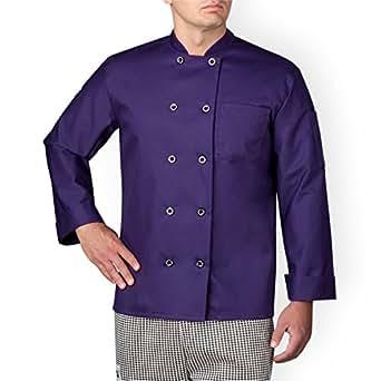 Chefwear 4410-127 Men's Long Sleeve Chef Jacket XS Purple