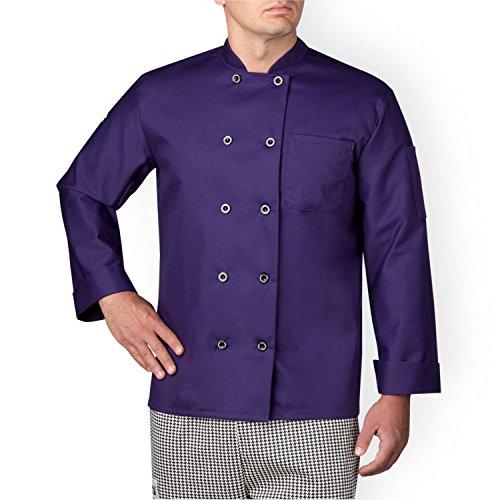 Chefwear 4410-127 Men's Long Sleeve Chef Jacket XS Purple]()