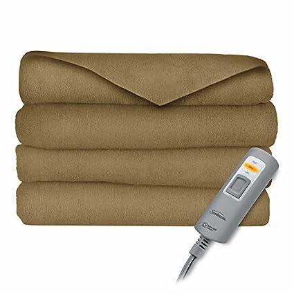 Amazon.com  Sunbeam Velvet Plush Electric Heated Throw Blanket 60