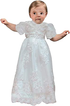 Newdeve Baby-boys White//Ivory Christening Gowns Baptism Romper Suits