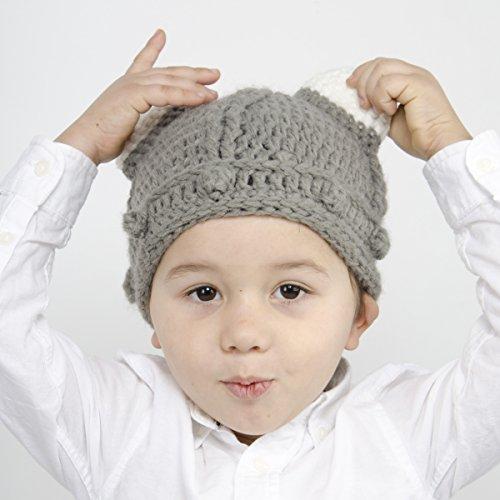 1d0ed0b8608 Medium Beard Beanie - Grey Viking Beard Hat for Toddler and Kid ...