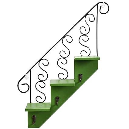 ozzptuu creativas escalera de madera montado en la pared para colgar estantes de almacenamiento estante con
