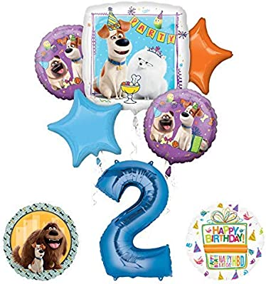 Mayflower Products Secret Life of Pets Party Supplies 2nd Birthday Balloon