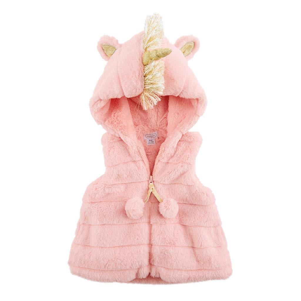 Mud Pie Girls' Pink Unicorn Hooded Vest by Mud Pie