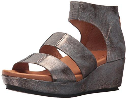 Gentle Souls by Kenneth Cole Women's Milena Triple Stretch Strap Platform Sandal Sandal, pewter, 7 M US ()