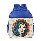 GYB HOME Unisex Wonder Woman Poster Children School Bag Backpack