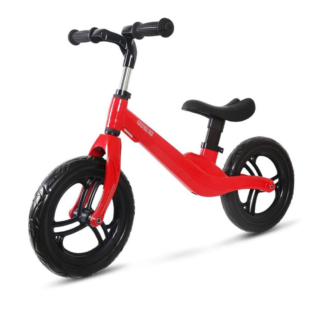 Glücklich zusammen Kind Balance Bike Sliding Auto keine Pedale im Freien aktive Baby Sliding Fahrrad 1-3-6 Jahre alt, rot (Farbe  rot, Größe  85x50cm)
