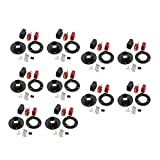 uxcell 10 Sets Male Female T Connectors for RC Aircraft LiPo Battery w Base