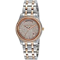 Michael Kors Women's MK6482 - Kiley Round Silver/Rose Gold One Size
