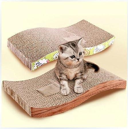 S Forma Gato griffoir (cartón ondulado juguete cojín para ...