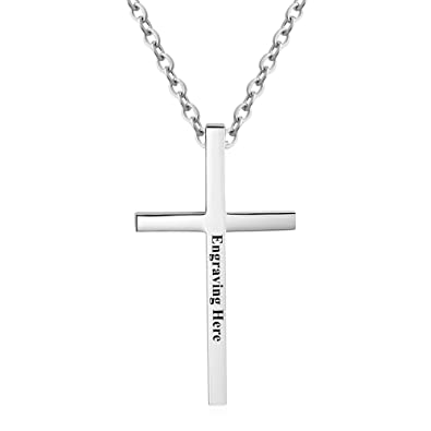 Amazon diamondido personalized stainless steel philippians 413 diamondido personalized stainless steel philippians 413 cross necklace for men women bible verse necklace mozeypictures Image collections