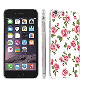 Skinguardz Iphone 6 (4.7) (White Rose Garden) Ultra Slim Light Weight Plastic Cover Case