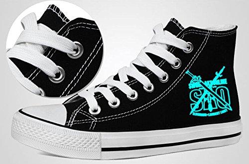Sao Sword Art Online Scarpe Cosplay Sneakers In Tela Luminosa 1 Luce Blu