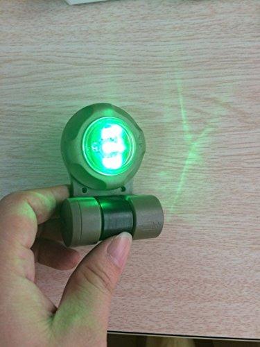 Enhelmet Tactical Signal Light/Outdoor Survival Tactical Airsoft VIP Safety Signal Light/SOS Signal Flashlight IR Strobe Light 2X Infrared, 3X Greenlight (DE) by Enhelmet (Image #5)