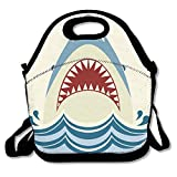 GT-0UJR Shark-jaws-Vector-color Lunch Tote Bag Picnic Lunchbox Lunch Tote Insulated Reusable Container Organizer For, Adults, Kids For School Work Outdoor
