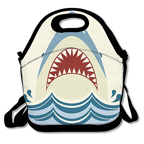Costume Design School Toronto (GT-0UJR Shark-jaws-Vector-color Lunch Tote Bag Picnic Lunchbox Lunch Tote Insulated Reusable Container Organizer For, Adults, Kids For School Work Outdoor)