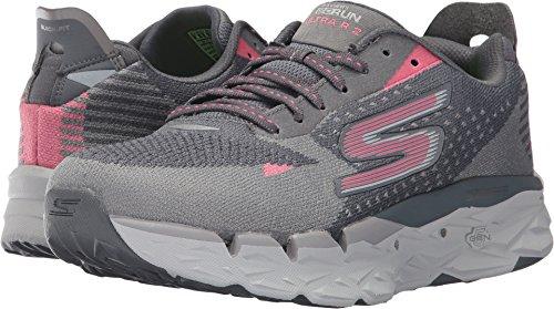 Skechers Women's Go Run Ultra Road 2, Charcoal/Pink, 8.5 B US